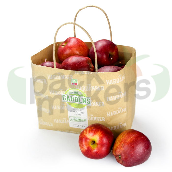 Wet Strength kraft paper bag without ventilation for apple or fruit